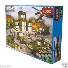 975 Pcs Building Blocks Army Action - Helicopter Tank Huge Packing COGO