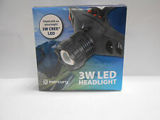 Mercury 3W Cree LED Head Light adjustable strap Ultra Bright professional lamp
