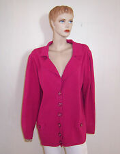 LANE BRYANT BRIGHT FUSHIA PINK COTTON BUTTON SWEATER CARDIGAN JACKET 22/24