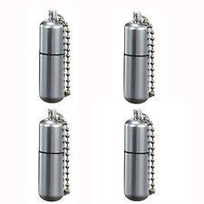 Waterproof Peanut Lighter Stainless Steel Capsule Refillable Fluid Lighter 4pack