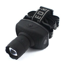 Lampe Frontale LED Zoomable  3x AA Headlamp Lumière vélo Lampe camping