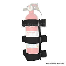 Black Roll Bar Fire Extinguisher Holder- Large For Jeep Wrangler JK