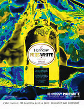 PUBLICITE ADVERTISING 075  2001  HENNESSY PURE WHITE  cognac  4