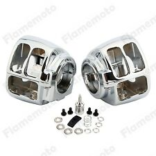 Chrome Handlebar Switch Housing Cover For Harley Softail Deluxe Rocker Heritage