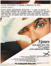 PUBLICITE ADVERTISING 095  1968   PHILIPS   téléviseur couleur