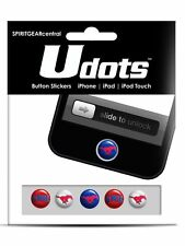 SMU Mustangs iPhone Home Button Stickers Udots ( OFFICIALLY LICENSED )