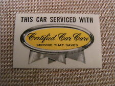 1960'S VINTAGE CHRYSLER DODGE PLYMOUTH DEALER CERTIFIED CAR CARE WINDOW STICKERS