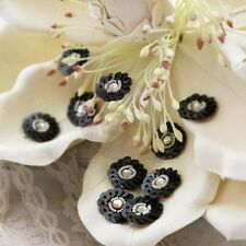 "Prima Marketing ""Raja Sequin Flower Centers in Black"" Sequins 535131 Gorgeous!"