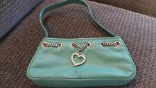 Womens Suzy Smith Handbag VGC bag strap green leather small
