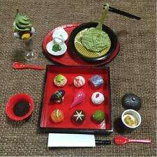 re-ment miniature kyoto food green tea noodle parfairt one bite sushi