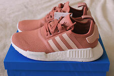 New Adidas NMD R1 Women`s Raw Salmon Vapour Pink Runner Trainers UK 4 4.5 5 5.5
