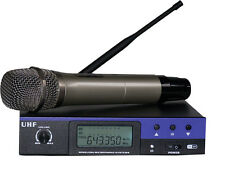 Professional UHF Single Channel Wireless Cordless Handheld Microphone Mic System