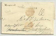 * 1833 STAMP OFFICE LONDON PRINTED LETTER H/S MISSENT TO AGAINST DORCHESTER PMK