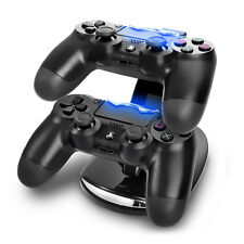 PS4 Ladestation PlayStation 4 LED für 2 Controller USB Dual Charger Ständer WOW