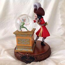 RARE Disney Peter Pan & Capt. Hook VILLAINS Musical Figurine Spinning Snowglobe