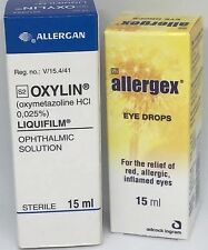1 Allergex + 1 Oxylin - Oxymetazoline HCl Eye Drops (similar to Visine LR)