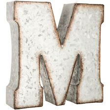"7"" Industrial Marque Galvanized Vintage Metal 3D Letters-CAPITAL LETTERS"