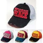New Vintage Peace Patch Distressed Truckers Hats Mesh Caps 4 Color Snapback Cap