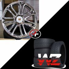 "22"" CA83 Style Wheels & Tires Chrome fits Cadillac Escalade ESV EXT 6x139.7"