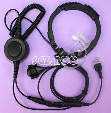 Military Tactical Throat Mic Headset/Earpiece For Midland 2 Two Way Radio PTT