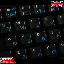 Portuguese Traditional Transparent Keyboard Stickers With Blue Letters