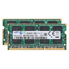 New Samsung 8GB 2X4GB PC3-12800 DDR3 1600Mhz So-Dimm 204pin Laptop SDRAM Memory
