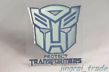 Polished Chrome Protect Transformers Autobot Logo Car Badge Emblem Sticker Decal