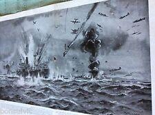 m89b ephemera 1940s ww2 picture u s a a f mitchells attack convoy off crete