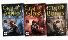 Mortal Instruments 3 Books City Of Ashes, Bones and Glases