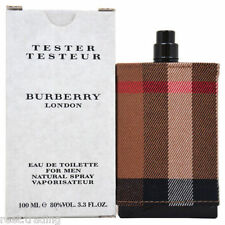 Burberry London Fabric Cologne for Men 3.4 oz Brand New In Box Tester