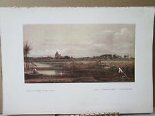 Vintage Print,CROWLAND ABBEY,Water Colour Society,1804-1904