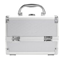 Pro Aluminum 6Tray Cosmetic Train Case Makeup Organizer Jewelry Box w/ MIrror