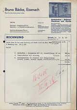 EISENACH, Rechnung 1939, Backofen-Baumeister Bruno Bäcke