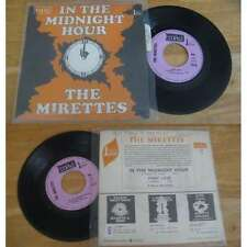 THE MIRETTES - In The Midnight Hour Rare French PS Funk Soul W/Languette 68'