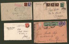 R.S.I.. ESPRESSI. Tre lettere e una cartolina postale del 1944/45. Buona qualità