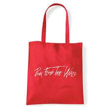 Art T-shirt, Borsa shoulder Pink Floyd The Wall, Rossa, Shopper, Mare