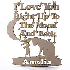 Personalised Guess How Much I Love You Decoration Hanger. MDF. Nutbrown Hare