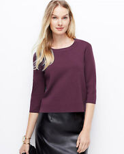 Ann Taylor - Misses XL TALL Chianti Structures Back-Zip Sweater $89.50 (T5)