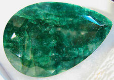 Investment Grade Faceted Pear Cut Emerald Green Gemstone 838.10 Ct Value: $21.8k