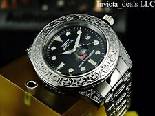 Invicta Grand Diver Nano Bible Automatic NH35A Black Dial Silver Tone SS Watch