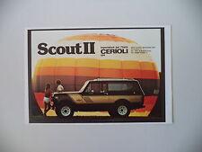 advertising Pubblicità 1981 FUORISTRADA SCOUT RALLYE - CERIOLI