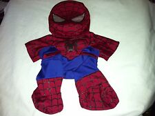 Build a Bear Spider-Man Mask and Suit (Maroon, Black)
