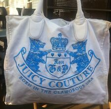 Juicy Couture Logo Large Shopper School Tote Handbag Purse Beach Gym Bag
