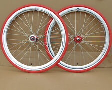 NOLOGO silver  Single Speed wheelsets Fixed Fixie 700c flip-flop hub Wheelsets