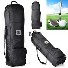 2016 Lightweight Oxford Cart Bag Golf Club Travel Bags Collapsible W/2 Wheels US