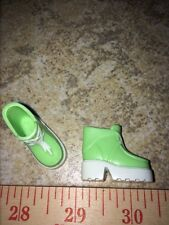 Barbie Mint Green White Chunky Heel Hiking Boots Faux Laces Shoes Camping Snow