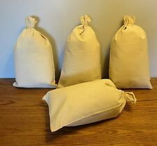 "4 CANVAS BANK COIN  MONEY SACK BAG 12"" BY 19"" DEPOSIT CHANGE BAGS TRANSIT"