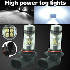 2x 9006 HB4 6000K 100W LED Cree Projector Fog Driving DRL Light Bulbs HID White