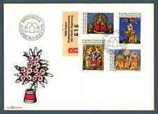LIECHTENSTEIN - 1976 - Natale. Lavori d'arte monastica in cera - (MR)