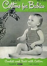 Vintage 1943 Clark's and Coats Cottons for Baby Knit/Crochet Pattern Book
